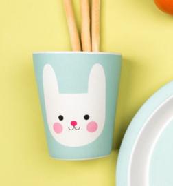 Rex London bamboe kinderservies beker Bonnie the Bunny