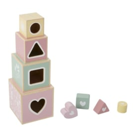 Little Dutch houten stapelblokken Adventure Pink