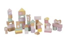 Little Dutch houten blokken in ton Adventure Pink