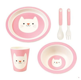 Rex London bamboe kinderservies Cookie the Cat 5-delige set