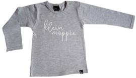 Babystyling baby shirt / longsleeve grijs Klein moppie