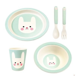 Rex London bamboe kinderservies Bonnie the Bunny 5-delige set