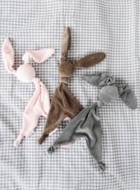Cottonbaby knuffeldoekje konijn velours grijs