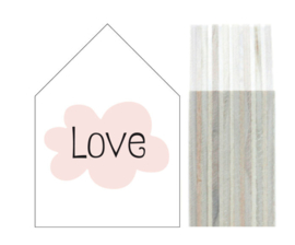 "Dots Lifestyle houten huisje ""Love"" MEDIUM"