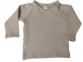 UKKIE babydesign overslagshirtje gebreid grijs