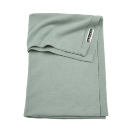 Meyco wiegdeken gebreid Knit Basic stone green