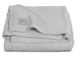 Jollein ledikantdeken gebreid Soft Knit light grey
