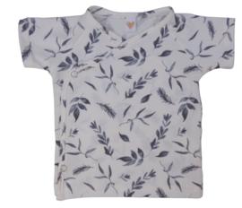 UKKIE babydesign shirt Leaves blauw