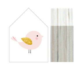 "Dots Lifestyle houten huisje ""Bird"" SMALL"