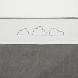 Meyco ledikantlaken Little Clouds grijs