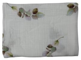 UKKIE babydesign hydrofiele doek Eucalyptus lila 65x65 cm