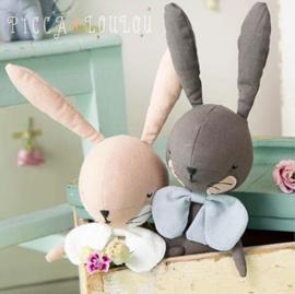 Picca Loulou knuffel konijn oud roze