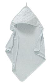 Cottonbaby badcape dot lichtblauw
