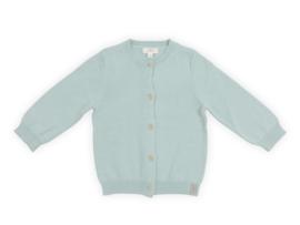 Jollein gebreid vestje Pretty knit stone green - maat 62/68