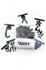 Word letter banner black