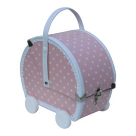 Kids Boetiek speelkoffertje poppenwagen roze