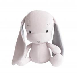 Knuffel konijn roze met grijze oren 20cm