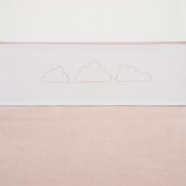 Meyco wieglaken Little Clouds roze