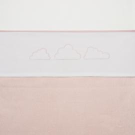 Meyco wieglaken Little Clouds roze