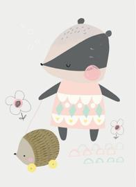 Petite Louise poster A4 Das met egel
