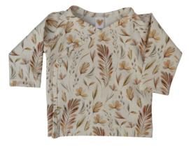 UKKIE babydesign overslagshirtje Leaves bruin