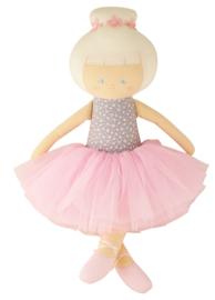 Alimrose grote Ballerina pop 50 cm grey floral