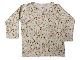 UKKIE babydesign overslagshirtje Duizend bloemetjes