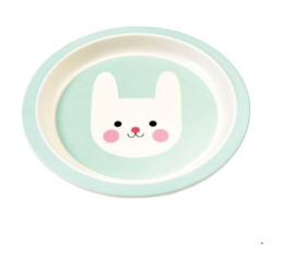 Rex London bamboe kinderservies bord Bonny the Bunny