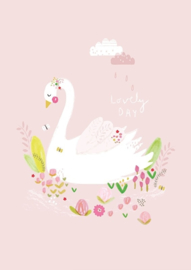 Petite Louise poster A4 Lovely day zwaan