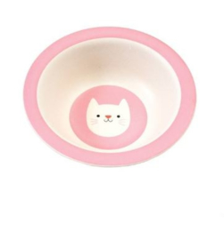 Rex London bamboe kinderservies kom Cookie the Cat