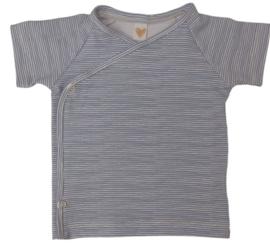 UKKIE babydesign shirt Streepjes blauw