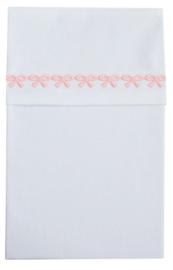 Cottonbaby wieglaken Strikjes roze