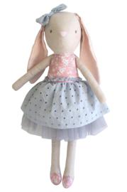 Alimrose linnen pearl Bunny 55 cm pink