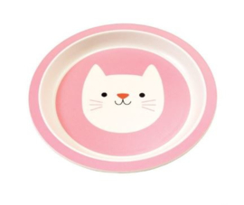 Rex London bamboe kinderservies bord Cookie the Cat
