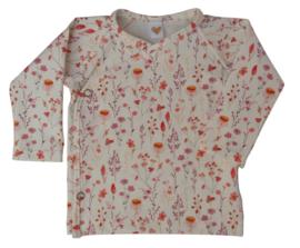 UKKIE babydesign overslagshirtje Zomerbloemetjes