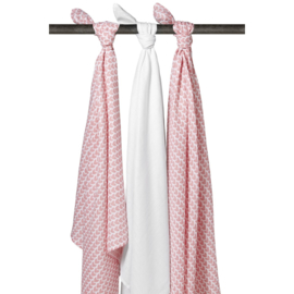 Meyco hydrofiele doek / swaddle Knitted Heart set/3