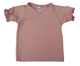 UKKIE babydesign ruffle shirt Nude roze