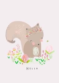 Petite Louise poster A4 Hello eekhoorn