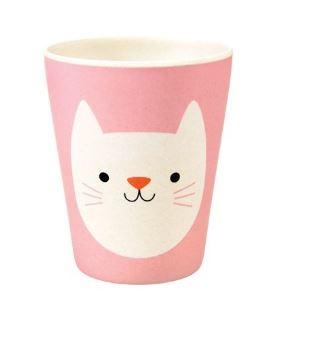 Rex London bamboe kinderservies beker Cookie the Cat
