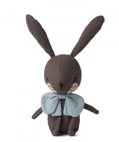 Picca Loulou knuffel konijn grijs