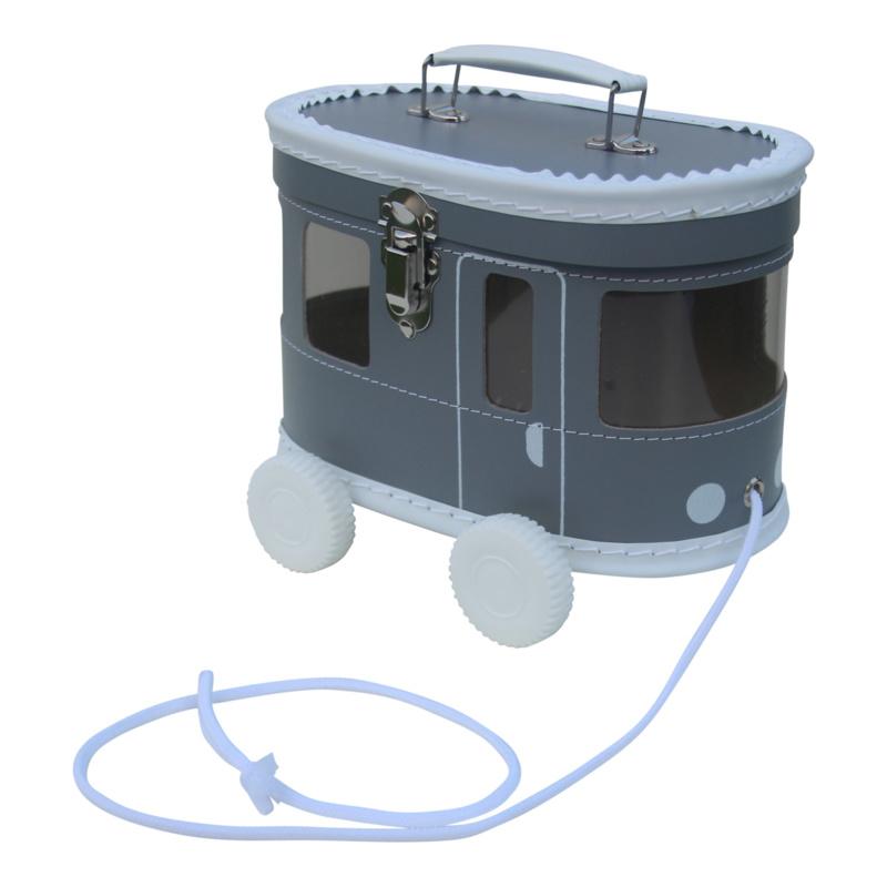 Kids Boetiek speelkoffertje tram grijs