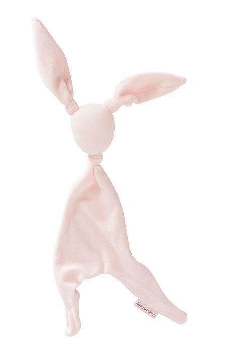 Cottonbaby knuffeldoekje konijn velours roze