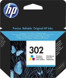 HP 302 (F6U65AE) Inktcartridge 3-kleuren