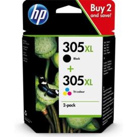 HP 305XL Zwart + 3 kleuren Voordeelbundel
