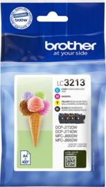 Huismerk Brother LC-3219XLVAL Inktcartridge 4-kleuren Voordeelbundel Hoge capaciteit