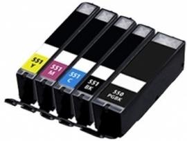 PGI-550 + CLI-551 XL Multipack Huismerk
