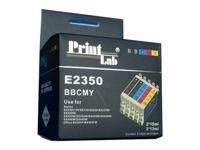 T1285 multipack 4st + 1 extra zwarte cartridges huismerk