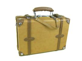 Robuust lederen koffertje