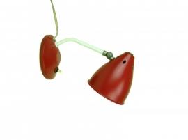 Retro wandlampje rood uit jaren `60