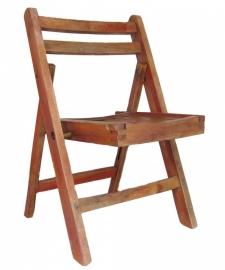 Klapstoel roodbruin